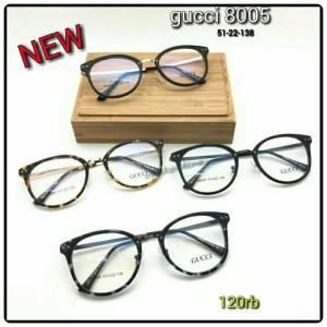 NEW Frame Kacamata Gucci 8005 Full Black Diskon