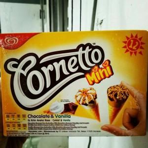 Cornetto Mini Chocolate & Vanila isi12 pcs