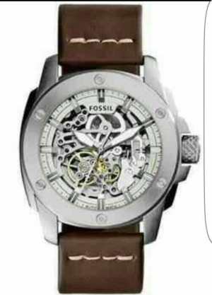 Fossil 3083 leather silver matic original