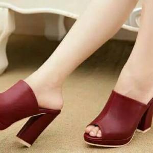 High heels tasha selop marun/maroon