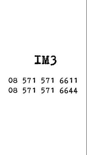 Kartu Perdana Nomor cantik murah rapih bagus Nocan IM3 Seri DOUBLE AA