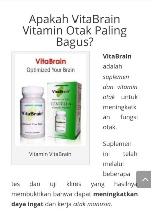 Vitabrain/ Centella