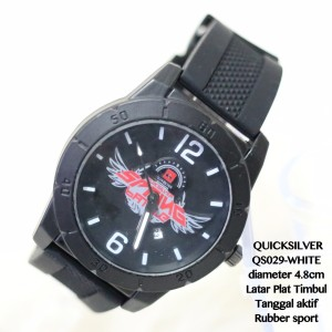 Jam tangan pria quicksilver rubber karet sport plat timbul grosir new