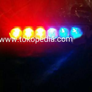 Led Bar Lampu strobo 15modul Drl offroad waterproof motor / mobil OK
