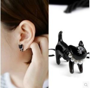Earring ROWKY Harajuku animal / Anting Harajuku Cat