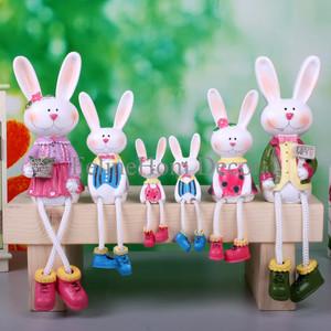 Grand Family Rabbit Resin Doll / Pajangan Boneka Resin