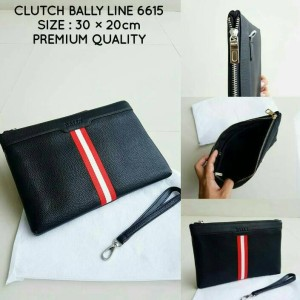 CLUTCH BALLY LINE BLACK 6615