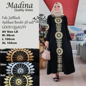 Gamis syari Madina/Maxi dress/Longdress Muslim wanita