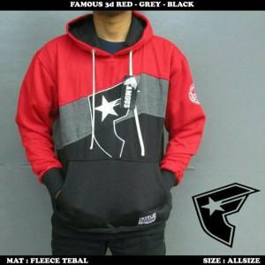 sweatwr pamous red grey nad black ( pleece tebal )