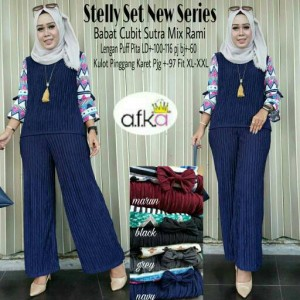 blouse dan celana stelly set