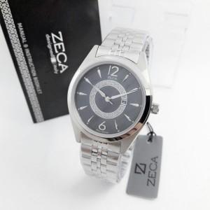 Jam Tangan Zeca 1002 Silver Black Original
