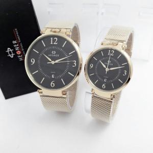 Jam Tangan Hegner 5015 BJ Gold Black Original