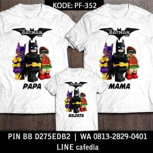 Baju Kaos Keluarga | Ulang Tahun | Couple | Kaos Motif Batman 4