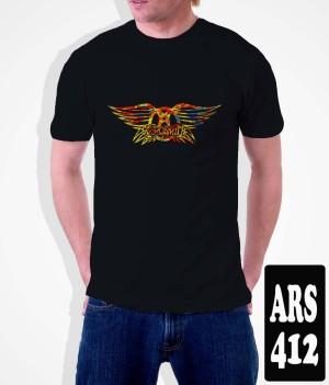 Kaos Aerosmith Band , Tag Kaos Gildan Sofstyle
