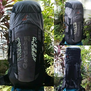 Keril Tas Gunung Carrier Seven Summits Gardaba 50L Grey Abu Original S