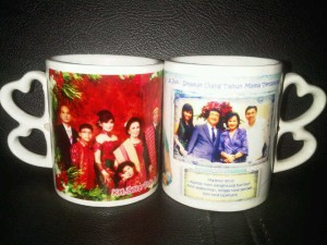 Mug gagang double Love - cetak mug digital printing