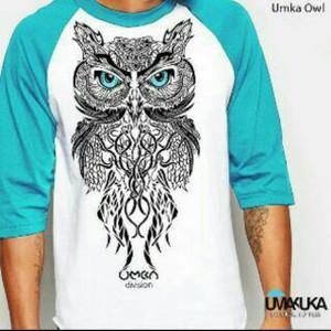 Exclusive Kaos 3D Umakuka - UMKA OWL ( raglan style )