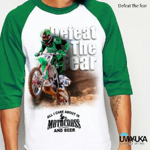 Spesial Kaos 3D Umakuka - DEFEAT THE FEAR ( raglan style )