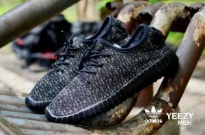 Sepatu Adidas Yezzy Boost Man Full Hitam