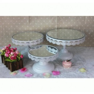 Mirror Lace Cake Stand Small