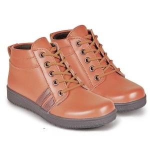 Sepatu Anak Laki Laki murah / sepatu boots anak cowok kulit coklat jv.
