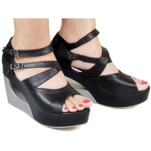 Wedges Braded / sandal sepatu wedges hitam / sandal pesta formal jv.