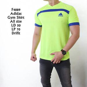 F4889 Kaos Pria Sport Gym Adidas Stabillo List Biru