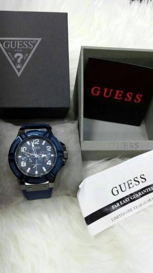 Jam Tangan Pria Guess W0248G5 Rubber Original Murah