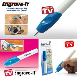 Alat Ukir bentuk Pulpen Elektrik Engrave It aman dan mudah digunakan