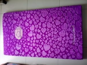 sajadah bulu rasfur love ungu