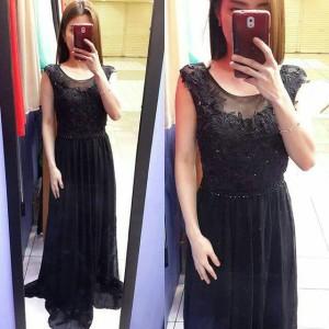 Longdress gaun pesta brukat / night gown