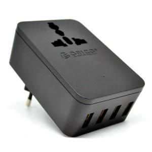 Orico 20W Universal Travel Power Plug 4 USB Charging Ports