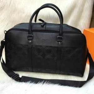 TAS Coach Travelbag Uk 50x30 Premium B Bhn tebal ,1warna Black aja