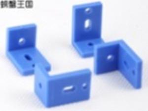 4pcs Plastic Angle Bracket for DIY Car 20.6*14*14mm Blue 20.6x14x14mm