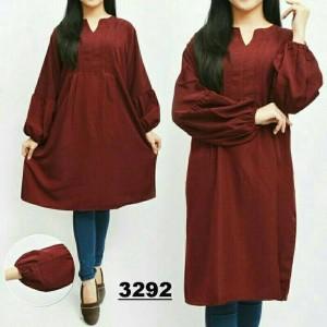baju blouse 3290 Jumbo Tunik Rempel