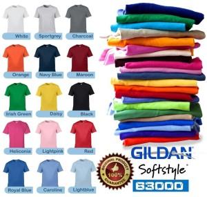 Kaos Polos Import GILDAN Softstyle Original