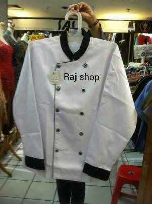 Baju seragam koki,lengan panjang.