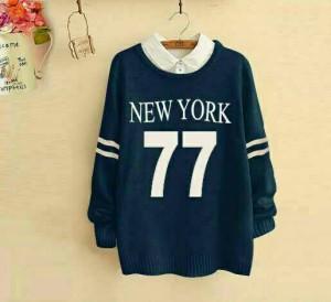 CR SWEATER WANITA NEW YORK 77