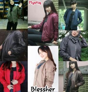 Jaket Boomber Wanita Jacket Bomber Atasan Jaket Blessher