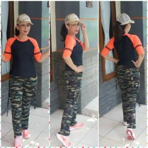 celana senam aerobik/zumba/fitness army pdl