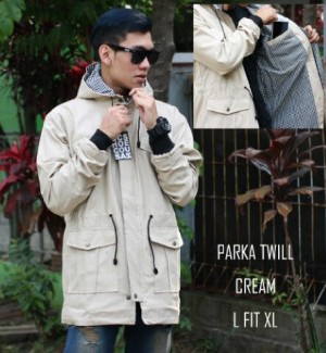 PARKA KANVAS 4 POCKET CREAM