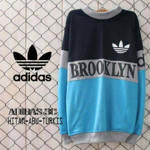 sweater adidas brooklyn hitam abu turkis