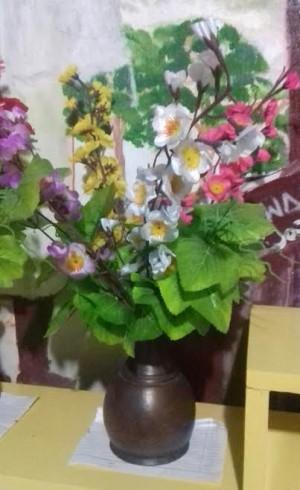 Vas Bunga Hiasan Rumah Minimalis Shabby Souvenir Jogja Murah
