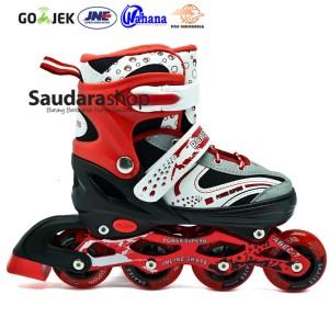 Power Superb Sepaturoda Inline Merah / Sepatu Roda Inline Merah
