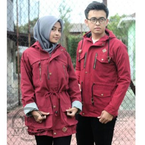 PARKA COUPLE KANVAS MARAJO MAROON