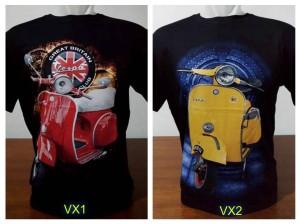 Kaos Distro VESPA Size XXL