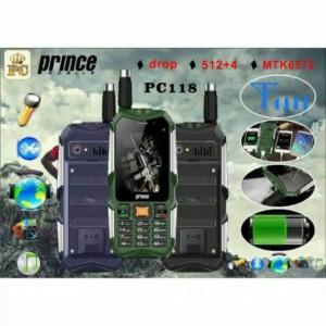 Handphone Murah HP Outdoor Android Powerbank Prince PC118