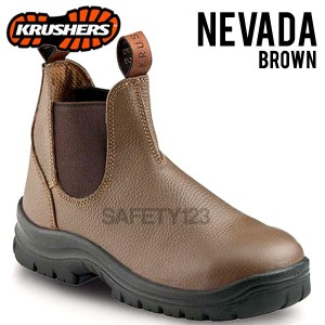 Sepatu Safety Shoes Krushers Nevada Brown Coklat
