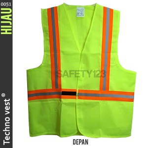 Techno vest 0051 Rompi Jaring Safety Scotlite Scotlight Hijau Termurah
