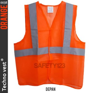 Techno vest 0038 Rompi Jaring Safety Scotlite Scotlight Orange Murah